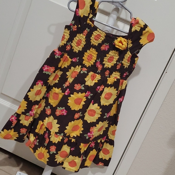 Gymboree Fall Dress Brown with Sunflowers 3T